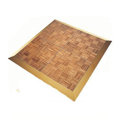 Dance Floor - Parquet 3 x 3 with gold edging