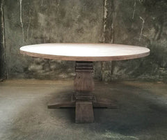 "Rustico 60"" Round Table in Distressed Grey"