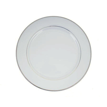 "Silver Rim 12"" Charger Plate"