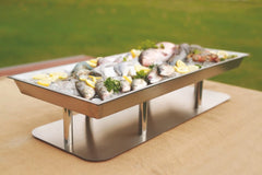 "Stainless Steel Raw Bar Display 48"" x 18"" x 8"" Tall"