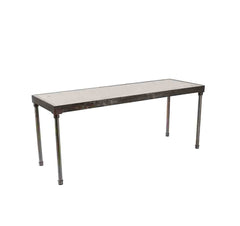 "Tribeca 6' x 24"" Communal  Table with White Wash Top - Metal Frame - 42"" Height"