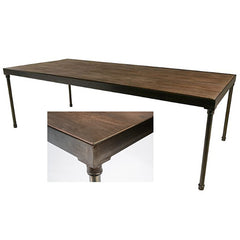 "Tribeca Table 8' x 42"" with Driftwood Top - Metal Frame"