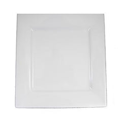 White Square 12 inch  - Chargers