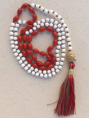 Feel your Strength - Coral & Onyx Mala