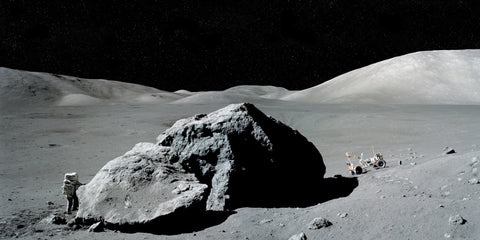 Lunar Landscape with Rover - Apollo 17