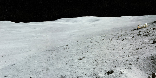 Lunar Landscape with Stuck Rover - Apollo 16