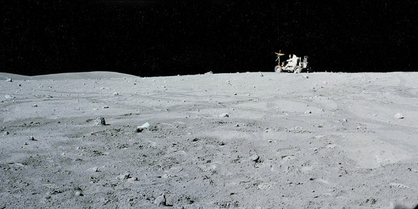 Rover on Horizon - Apollo 16