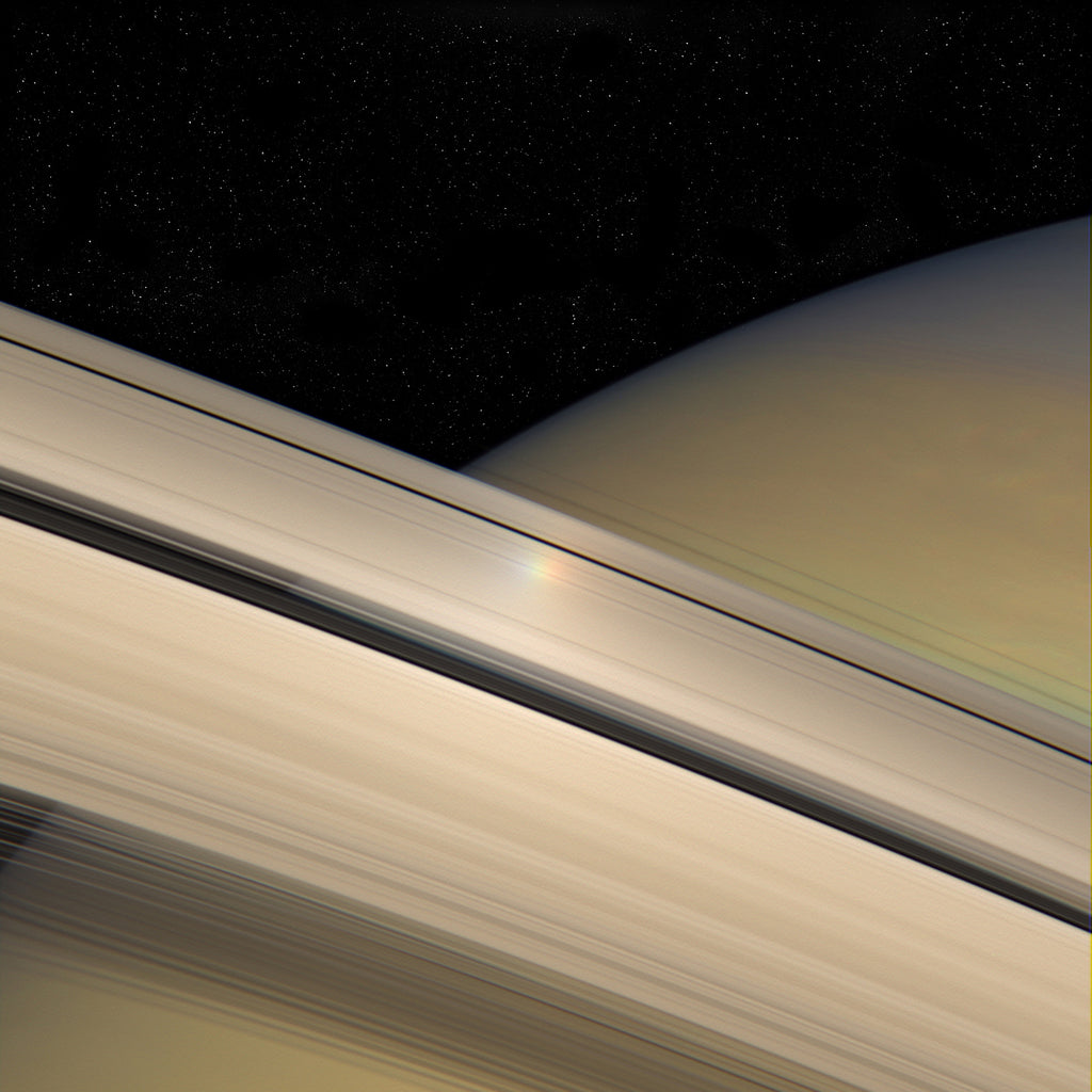 Saturn Rings Rainbow