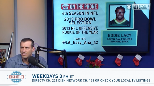 Eddie Lacy Talks Packers With Doug Gottlieb | Eddie Lacy