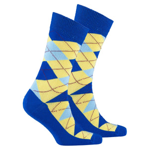 Men's Admiral Lemon Argyle Socks