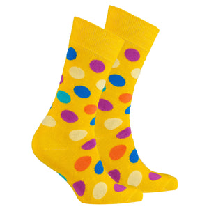 Men's Mixed Yellow Dot Socks