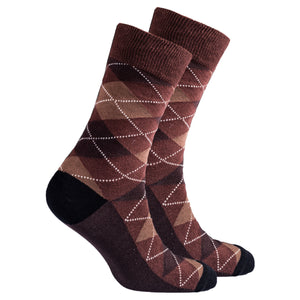 Men's Mocha Argyle Socks