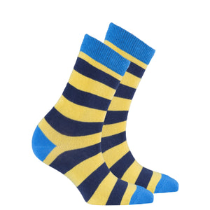 Women's Blue Canary Stripe Socks