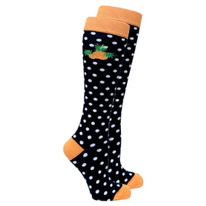 Women's Pineapple Dot Knee High Socks