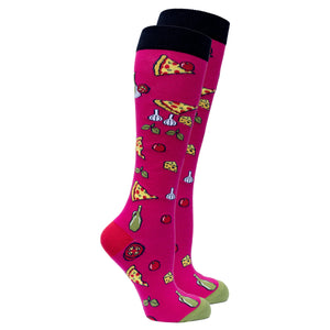 Women's Pizza Chef Knee High Socks