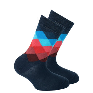 Kids Navy Paradise Diamond Socks