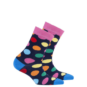 Kids Pink Sky Dot Socks