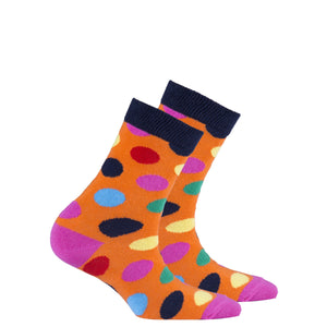 Kids Mandarin Dot Socks