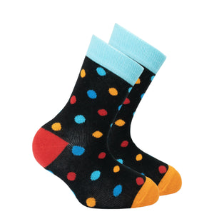 Kids Black Sky Dot Socks
