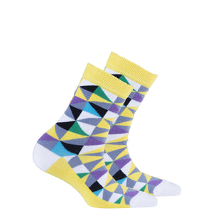 Kids Yellow Triangle Socks