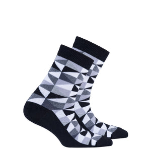 Kids Black Triangle Socks