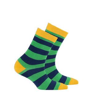 Kids Carrot Leaf Stripe Socks