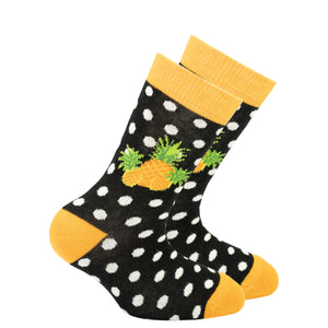 Kids Pineapple Dot Socks