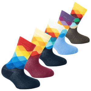 Kids Faded Diamonds Socks