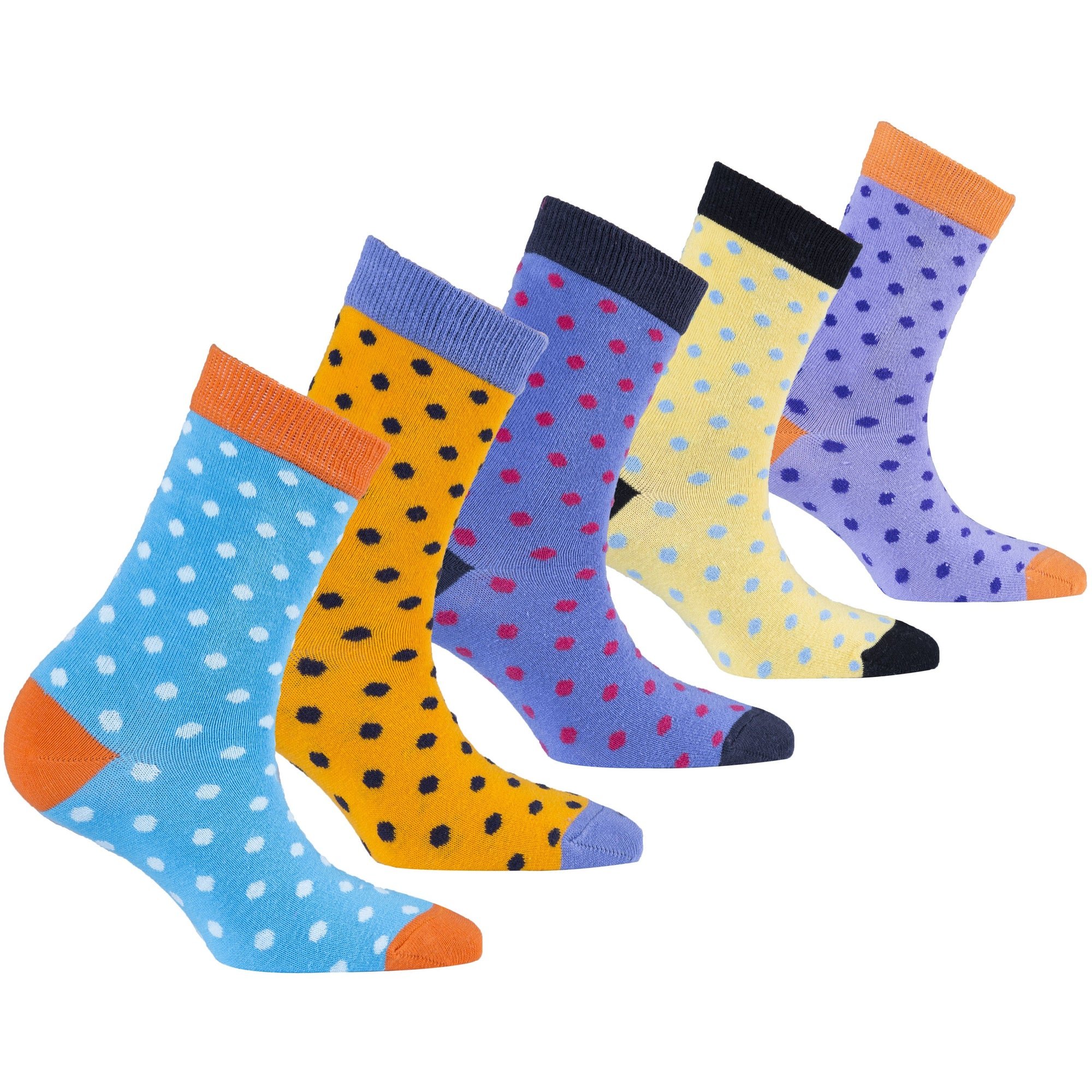 Kids Soft Dots Socks | 5 Pack