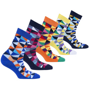 Kids Stylish Triangle Socks | 5 Pack