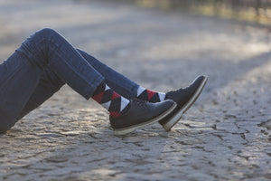 Men's Denim Argyle Socks