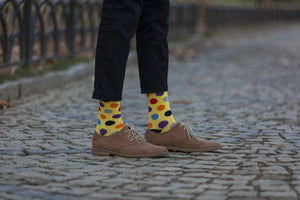 Men's Blonde Dot Socks
