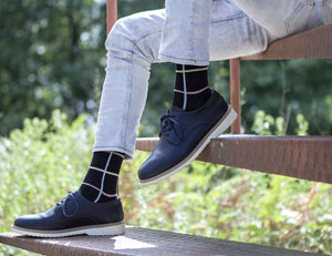 Men's Black Stripe Socks