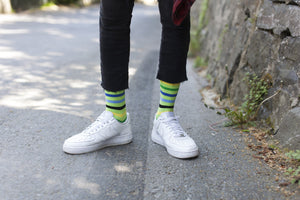 Men's Lime Stripe Socks
