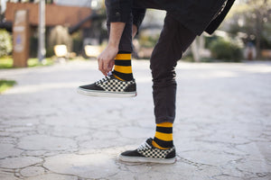 Men's Black Flame Stripe Socks
