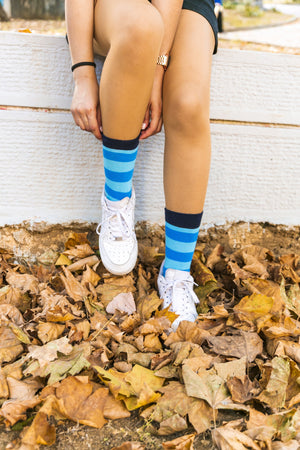 Women's Black Sky Stripe Socks