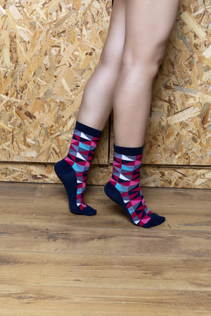 Women's Red Triangle Socks