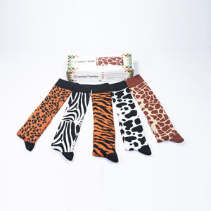 Women's Animal Kingdom Knee High Socks Set