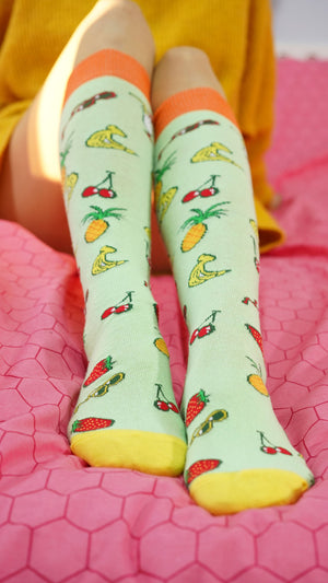 Women's Fun Knee High Socks Set