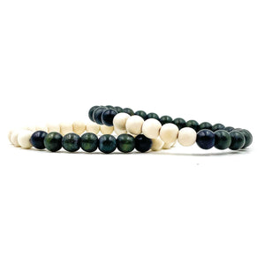 Everwood Beaded Bracelet 2 Pack - Forest Green, Summit White, & Black