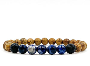 Kingston | Blue Sodalite - Zebrawood