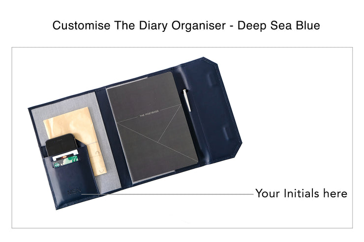 Diary Organiser - Deep Sea Blue / Line (Custom)