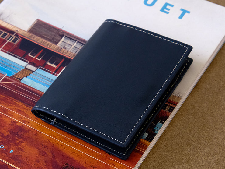 Urbane - Vertical Bifold Pull Tab Wallet - Deep Sea Blue (custom)