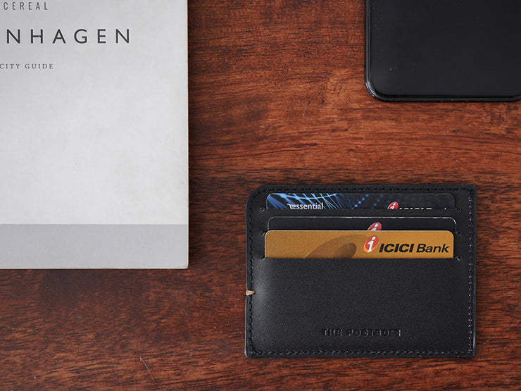 Sterling Card Holder - Classic Black