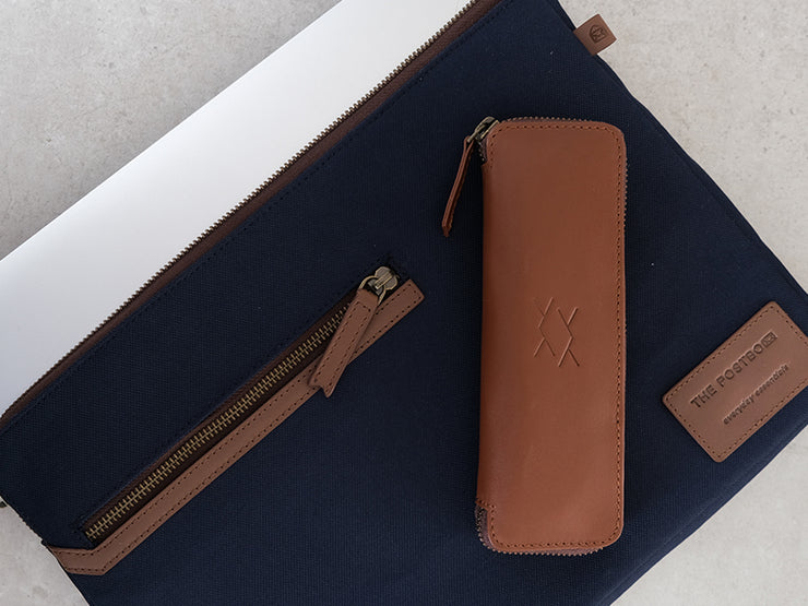 Spark - Stationery Zipper Case / Classic Tan