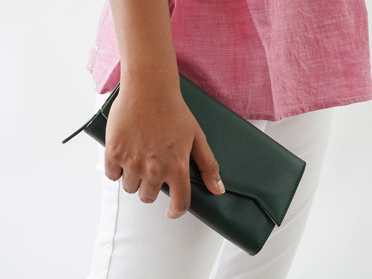The Marly Clutch - Emerald Green