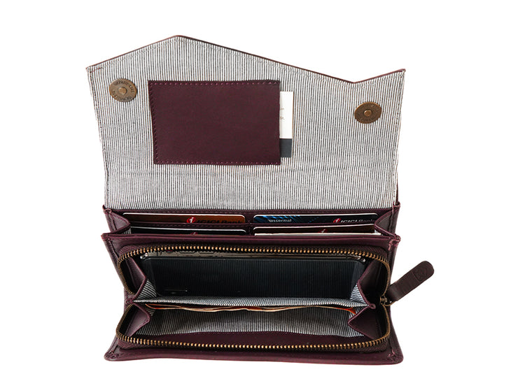 The Marly Clutch - Burgundy