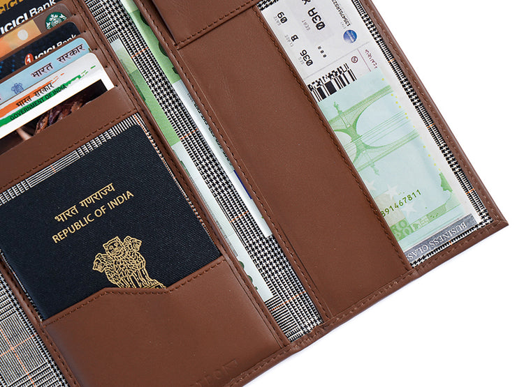 Wanderlust Passport Wallet Tan - Custom