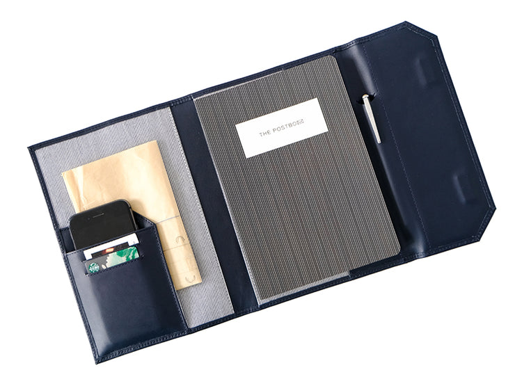 Diary Organiser - Deep Sea Blue / Stripes