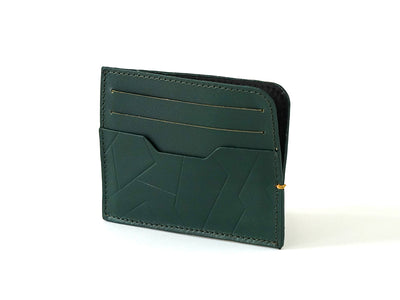 Sterling Card Holder - Emerald Green